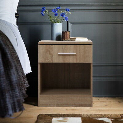 REFLECT 1 Door Soft Close Plain Wardrobe in Gloss Black / Black Oak - Bedroom