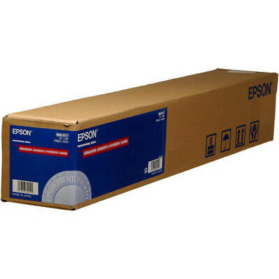 "Epson S041617 Enhanced Adhesive Synthetic Inkjet Paper - 24"" x 100' Sized Roll"