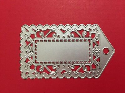 NEW• LACE GIFT TAG DIE For Cuttlebug Or Sizzix