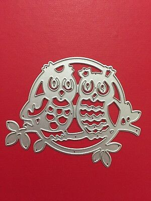 NEW• OWL COUPLE DIE For Cuttlebug Or Sizzix