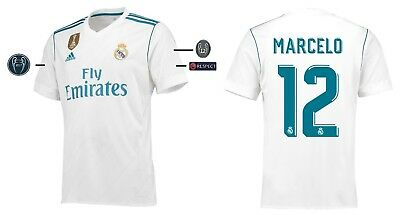 Trikot Adidas Real Madrid 2017-2018 Home UCL - Marcelo 12 [152-3XL]