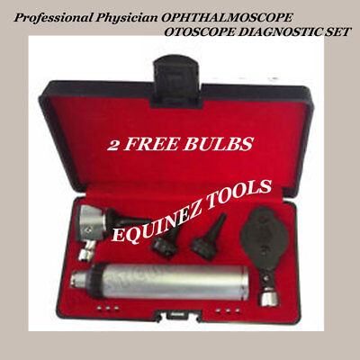 NEW Professional Physician OPHTHALMOSCOPE OTOSCOPE DIAGNOSTIC SET
