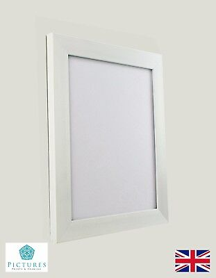 WHITE PHOTO Picture Poster Panoramic Frames Various sizes 28mm Range ...