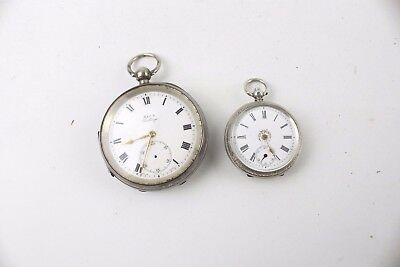 Vintage POCKET WATCH & FOB WATCH Silver Cases inc Hallmarked SPARES