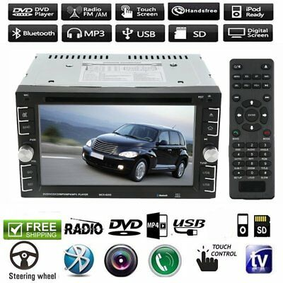 "6.2"" 2 Din Car DVD Player Radio Stereo MP3 AUX USB Bluetooth Music Player LOT GT"
