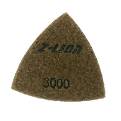 80mm Electroplated Diamond Triangular Dry Polishing /Buffing Pad 3000 Grit