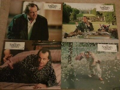 """Rare Jack Nicholson Witches Of Eastwick Set Of Four Lobby Card Posters 11"""" x 8"""""""