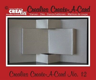 Crealies Create A Card no. 12 Stanze für Karte 13,5 x 27 cm, CCAC12, Stanze