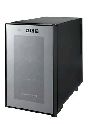 15#ad Russell Hobbs 8 Bottle Wine Cooler - Black. New some scuffs