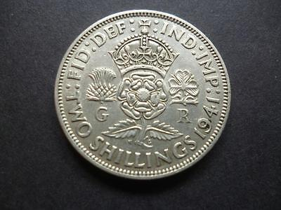 1941 Two Shilling coin in good used condition,George 6th .500 silver florin