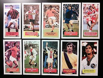 JOHAN CRUYFF - AJAX BARCELONA - Collection of 10 Score trade cards