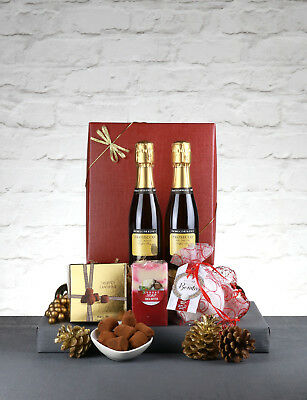 Let it Snow Gift Box - Vintage Prosecco & Chocolates Christmas Gift Hamper