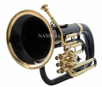 Standard Euphonium 3 Valve Black Colored and Brass finish with free mp