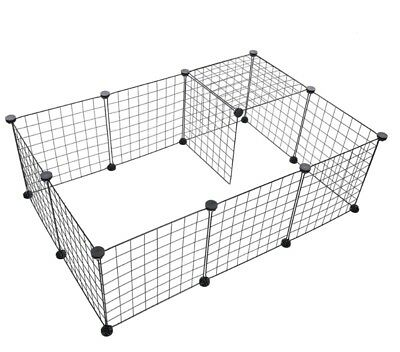 52z  Pets Playpen Metal Indoor Yard Fence for Small Animals Popup Kennel Crate