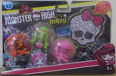 Monster High ~ Minis Doll 3 Pack ~ Draculaura, Venus McFlytrap & Toralei