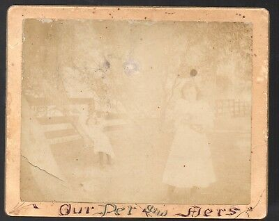 Cabinet Card Photo of Lady and Girl by Amateur Art Co of Wilmington OH