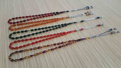 Lot of 5 collectible  Prayer Worry Beads Tasbih Tasbeh