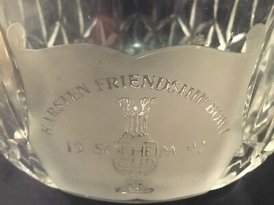 Superb Waterford Crystal Bowl commemorating 1992 Solheim Cup