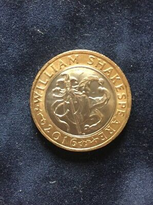 2016 William Shakespeare £2 Two Pound Coin Jester Hat