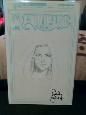WITCHBLADE # 32 Blank Variant Sketch Cover Sketched Signed By Randy Green