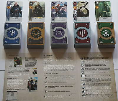 GWINT/GWENT (GERMAN EDITION) CARDS (5 DECKS) 400 CARDS Witcher 3 FULL SET