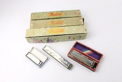 Mixed Vintage Music Collection inc. 3x HARMONICA & 3x MELOTO Music Reels