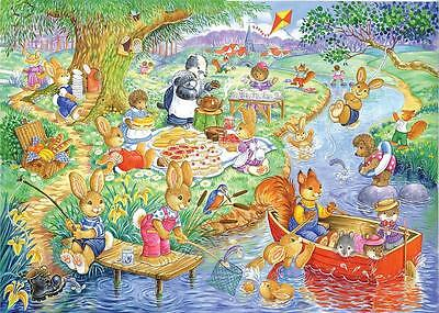 The House Of Puzzles Kidzjigz - 80 PIECE JIGSAW PUZZLE - Picnic Time Children