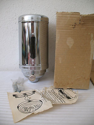 Soap Dispenser Wall Mount Steel Chrome Finish Continental Japan Vintage Industry