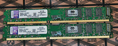 Kingston 8GB 2x4GB DDR3 1333MHz PC3-10600U Desktop RAM Memory - KVR1333D3N9-4G