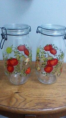 Glass Vegetable Canisters, France