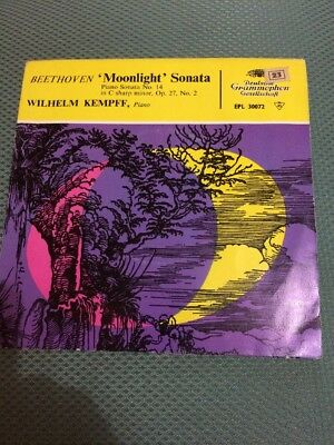 "Beethoven Moonlight Sonata No 14 7"" Vinyl"