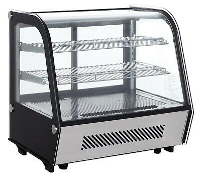 New Refrigeration Cabinet  Displays 120 Litres Front Curved Glass Power160 w