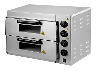 New Electric Double Deck Pizza Oven 220-240v / 3000 w  Iron With Spray Painting