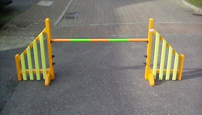 Dog agility Garden Size Wings Orange and Lime Green ready to go