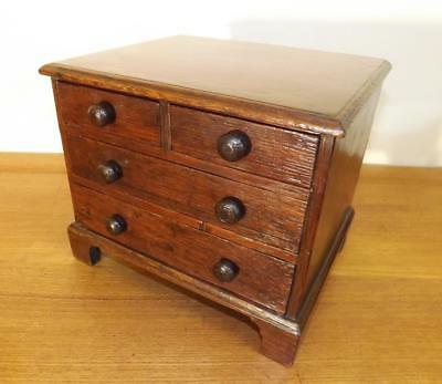 Apprentice Piece Georgian Oak Miniature Chest of Drawers. 1790's