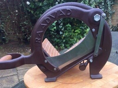 Antique brown Raadvad Hand Operated Bread Slicer