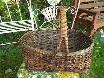 Large Rustic Wicker Basket Picnic Fruit Picking Festivals Shopping Storage