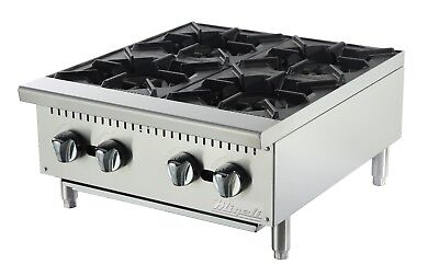 "Migali C-HP-4-24 24"" 4 Burner Hot Plate"