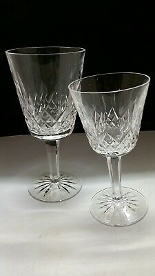 "WATERFORD Crystal LISMORE, claret wine 5-7/8"" and wine glass 7"" tall"