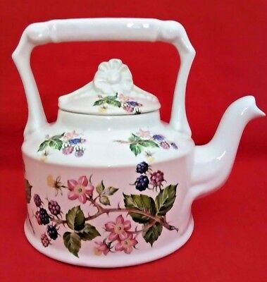 Rare Vintage Arthur Wood Teapot England #6106 Berries & Flowers Top Handle (A4)