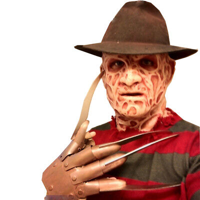 Unisex Adult Scary Freddy Krueger Mask Full Costume Nightmare on Elm Street