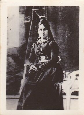 Old Photo Woman Glamour Dress Ethnic