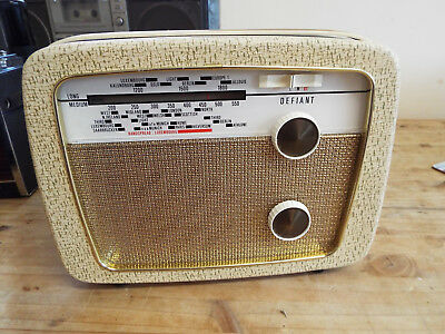 Defiant A55 Vintage Transistor Radio 1966 Fully Working And Very Good Condition!