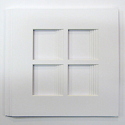 "5 Pack of   4 Square Shaped Photo Mounts to Fit 8""x8""  frames"