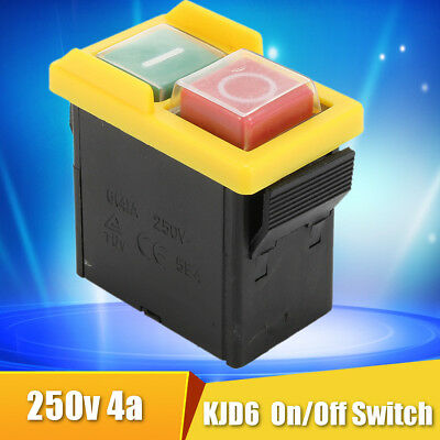 250V 4A IP54 5E4 Interruttore Pulsante di comando KJD6 On/Off Switch sicurezza
