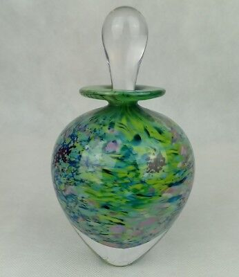 PETER LAYTON PERFUME BOTTLE. London glass blowing.