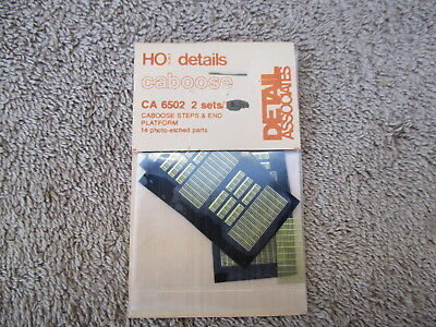 Detail Assoc #CA-6502 HO Scaled Photo Caboose Step & End  Detail Parts Trains RR