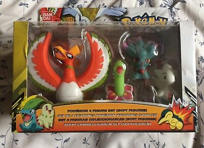 Pokemon 4 Figure Set Ho-Oh Meganium Togetic Misdreavus BNIB