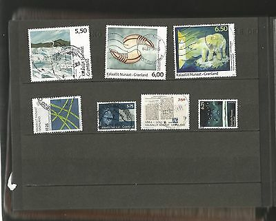 F259) Greenland 201 Differnt Used Stamps. Cat $337