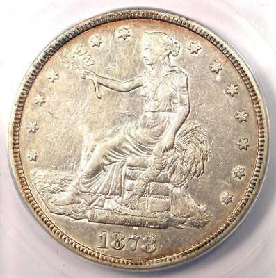1878-S Trade Silver Dollar T$1 - Certified ANACS AU50 - Rare Certified Coin!